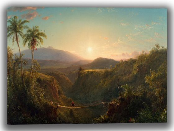 Church, Frederic Edwin: Pichincha. Fine Art Canvas. Sizes: A4/A3/A2/A1 (0034)